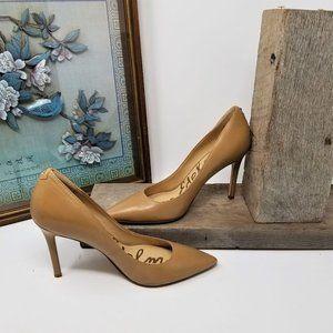 Sam Edelman Woman's Leather Tan Heels 6M